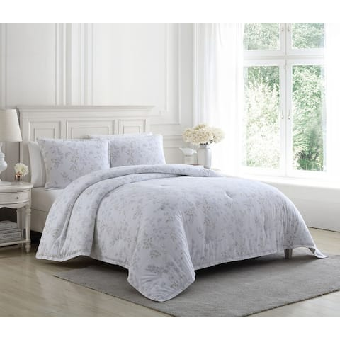 Laura Ashley Fawna Flannel Comforter Set