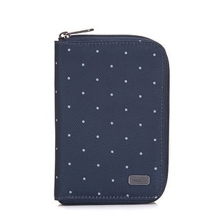 Daysafe Passport Wallet - Navy Polka Dot RFID Blocking Passport Wallet