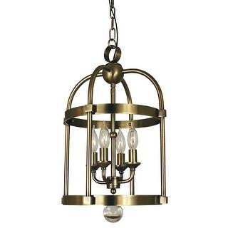 "Framburg 1103 Compass 4 Light 12"" Wide Taper Candle Chandelier"