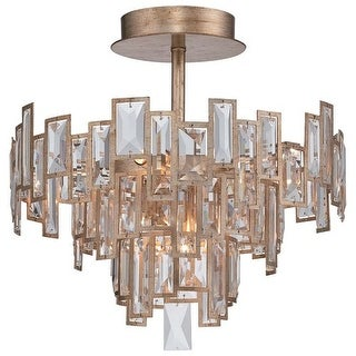 Metropolitan N6672-274 5 Light Semi-Flush Ceiling Fixture from the Bel Mondo Collection - luxor gold
