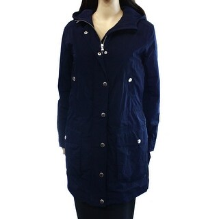 Lauren by Ralph Lauren NEW Blue Womens Size Small S Hooded Jacket