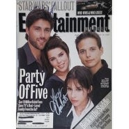 Signed Party of Five Lacey Chabert Matthew Fox Entertainment Weekly Magazine Cover Only by Lacey C