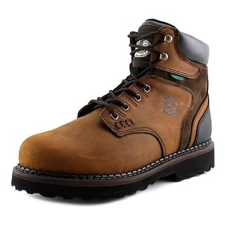 "Georgia Boot G7134 Brookville 6"" Men Round Toe Leather Work Boot"