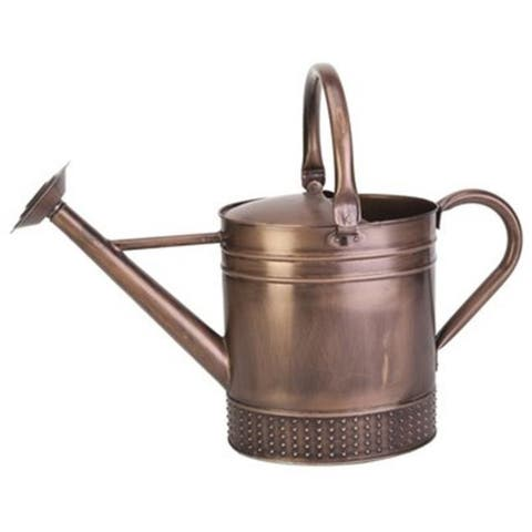 Panacea 84876 Gallon Brushed Copper Embossed Watering Can
