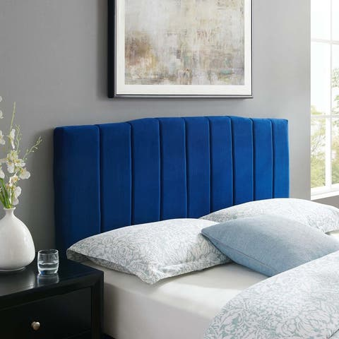 Camilla Channel Tufted Full/Queen Performance Velvet Headboard