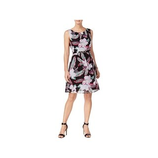 Connected Apparel Womens Wear to Work Dress Chiffon Floral Print