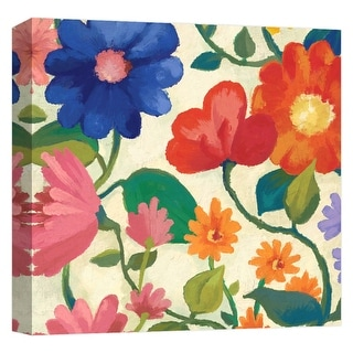 """PTM Images 9-124606  PTM Canvas Collection 12"""" x 12"""" - """"Spring Bouquet IV"""" Giclee Flowers Art Print on Canvas"""
