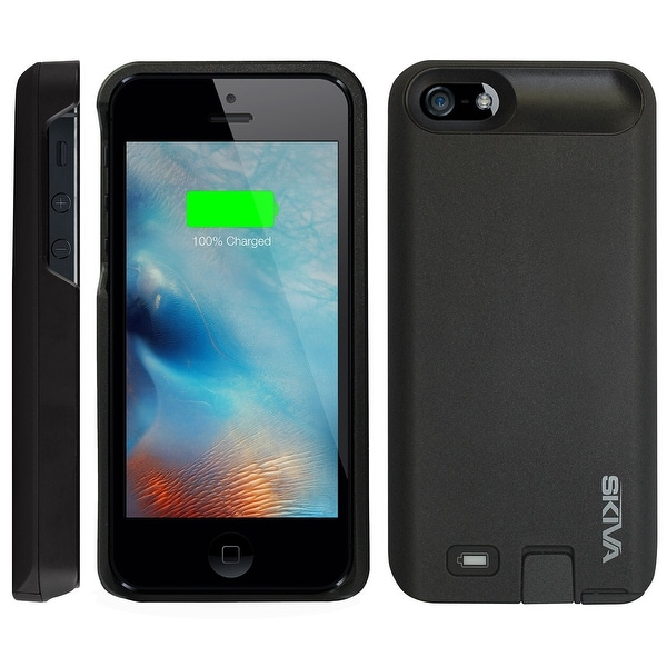 Skiva PowerFlow 2000mAh iPhone SE / 5 / 5s Protective Battery Case External Rechargeable Portable Power Bank Pack Charger Cover