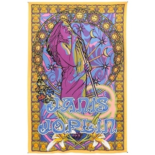 Handmade 100% Cotton Janis Joplin Hippie Bohemian Tapestry Tablecloth Throw Beach Sheet Dorm Decor Twin 60x90