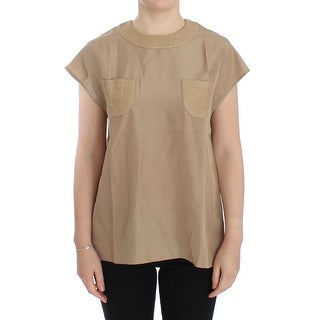 Dolce & Gabbana Dolce & Gabbana Beige silk blouse top - it40-s