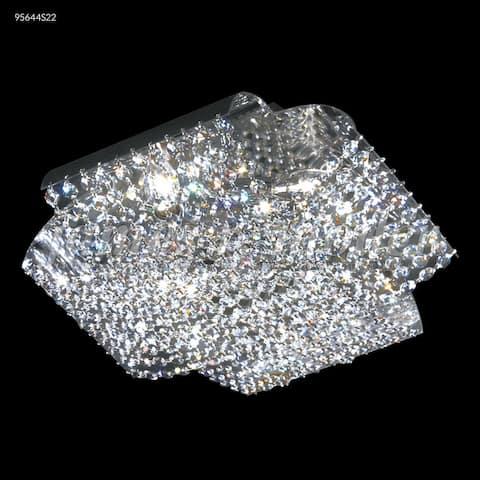 Crystal World Four Light Flush Mount Eclipse Fashion Silver - One Size
