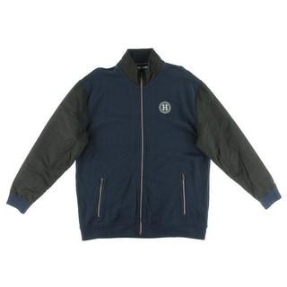Tommy Hilfiger Mens Cotton Contrast Trim Jacket - XL