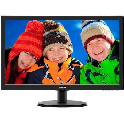 "PHILIPS 223V5LSB 1080p 21.5"" LED-backlit Monitor,Black(Used-Good)"