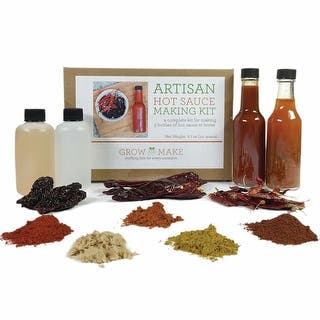 Artisan DIY Hot Sauce Kit - Includes Recipes, Bottles, Funnel, and a Variety of Peppers|https://ak1.ostkcdn.com/images/products/is/images/direct/7276defe7f08a94db51e0d5b0cad88d91288240a/Artisan-Diy-Hot-Sauce-Kit.jpg?impolicy=medium
