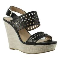 Charles David Womens Ccd-Aloof-001 Black Sandals Size 8.5