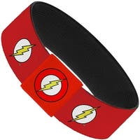 "Flash Logo Red White Yellow Elastic Bracelet   1.0"" Wide"