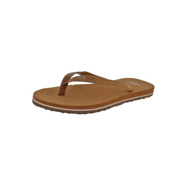 Ugg Womens Magnolia Thong Sandals Suede Casual - 6 medium (b,m)