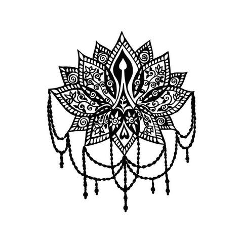 Lotus Wall Decal Yoga Studio Vinyl Sticker Indian Wall Decor Boho
