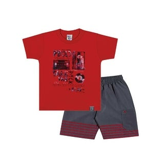 Toddler Boy Outfit Graphic Shirt and Shorts Set Pulla Bulla Sizes 1-3 Years
