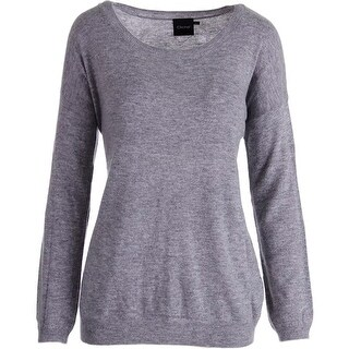 Cliche Womens Wool Blend Scoop Neck Pullover Sweater - L