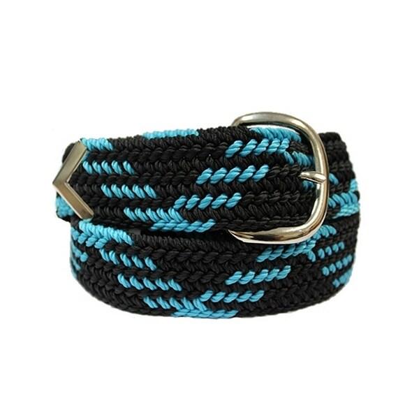 M&F Western Belt Mens Leather Braid Arrow Tip Black Blue - 46
