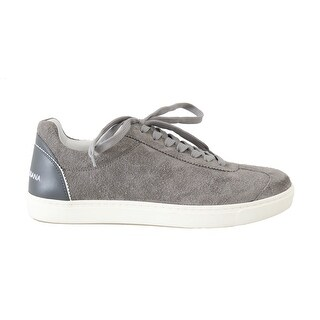 Dolce & Gabbana Gray Leather Mens Casual Sneakers - eu39-us6