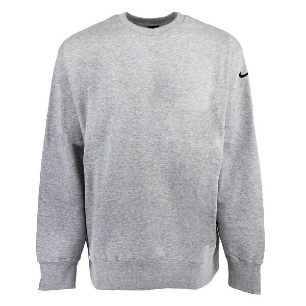 nike swoosh crew sweatshirt dark grey heather