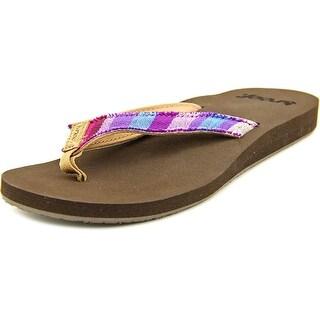Reef Guatemalan Love Women  Open Toe Canvas  Flip Flop Sandal