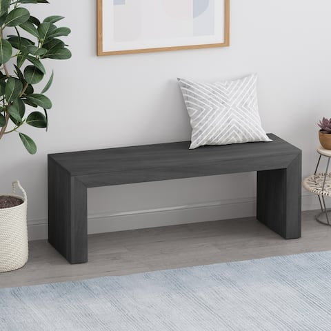 Palston Farmhouse Acacia Wood Dining Bench by Christopher Knight Home