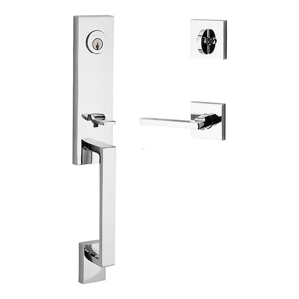 Baldwin SC.SEAxSQU.L.CSR Seattle Left Handed Standard C Keyway Single Cylinder Keyed Entry Handleset with Contemporary Square