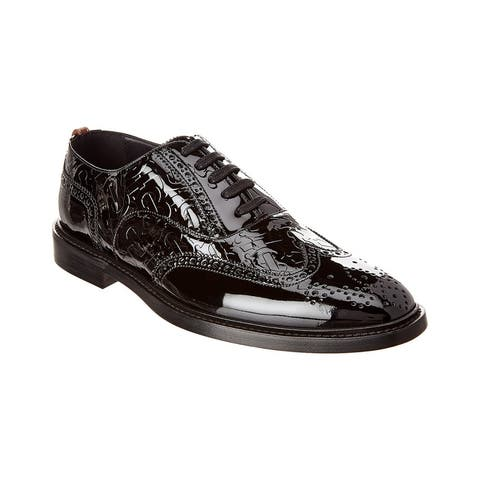 Burberry D-Ring Detail Patent Oxford