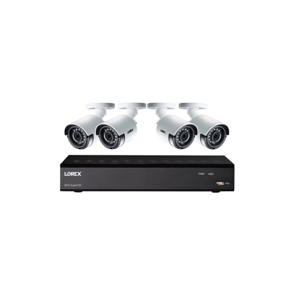 Lorex lha41041tc4b 4.0-megapixel super hd 4-channel 4-camera security system with color night vision
