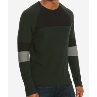 Kenneth Cole NEW Green Men's Size XL Colorblock Crewneck Sweater