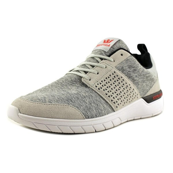 Supra Scissor Men Light Grey-Red Skateboarding Shoes