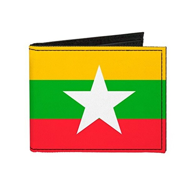 Buckle-Down Canvas Bi-fold Wallet - Myanmar Flag Accessory