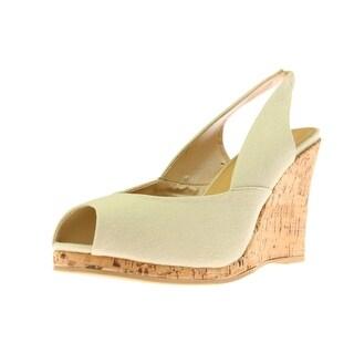 Diba True Womens Dream Of You Wedge Heels Canvas Cork - 10 medium (b,m)