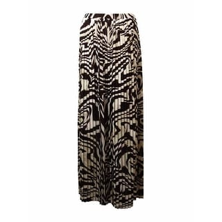 Michael Kors Women's Pleated Animal Print Maxi Skirt - 1X