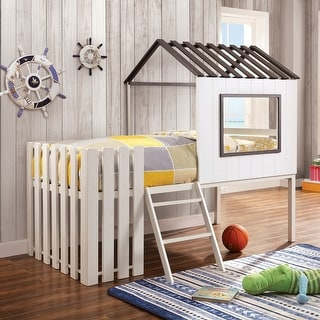 Link to Furniture of America Woud Transitional White Twin Wood House Bed Similar Items in Kids' & Toddler Beds