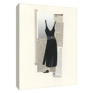 "PTM Images 9-154752  PTM Canvas Collection 10"" x 8"" - ""Little Black Dress I"" Giclee Dresses Art Print on Canvas"
