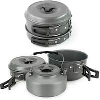 Winterial Camping Cookware and Pot Set 11 Piece Set For Camping / Backpacking / Hiking / Trekking