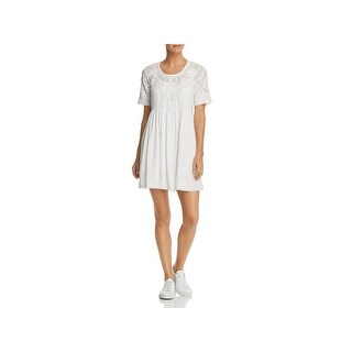 French Connection Womens Shannon Casual Dress Lace Trim Short Sleeves (2 options available)