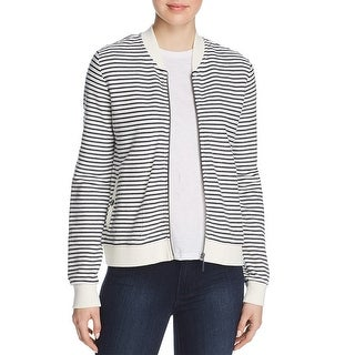 Barbour Bamburgh Striped Zip-Up Sweater Jacket White/Navy - 4