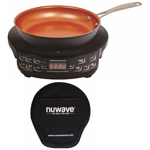 """NuWave PIC Flex Precision Cooktop with 9"""" Fry Pan and Storage Case"""