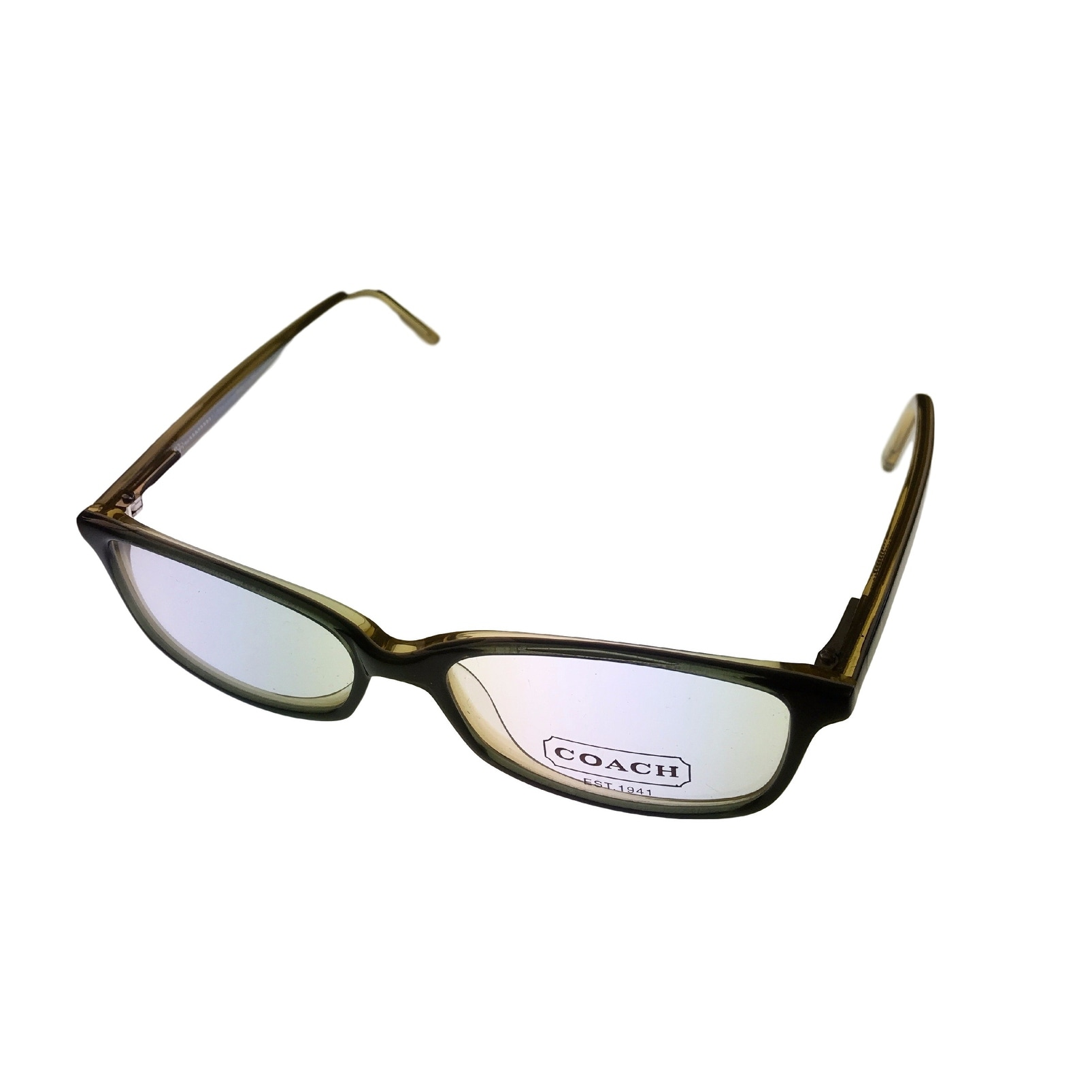 Coach Womens Opthalmic Eyeglass Frame Modified Plastic Rectangle Green Page 506 - Medium - Thumbnail 0