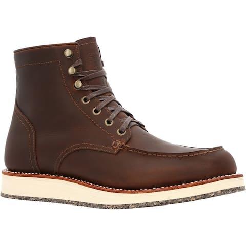 "Men's Brown 6"" Moc-toe Eco Wedge Boot"