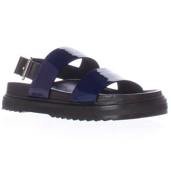 CoSTUME NATIONAL 1160768 Flat Platform Sandals, Blue - 7 us / 37 eu