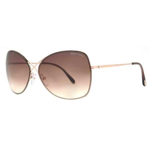 4a77ed25c13 Tom Ford Colette TF 250 28F Rose Gold Brown Gradient Womens Butterfly  Sunglasses - rose