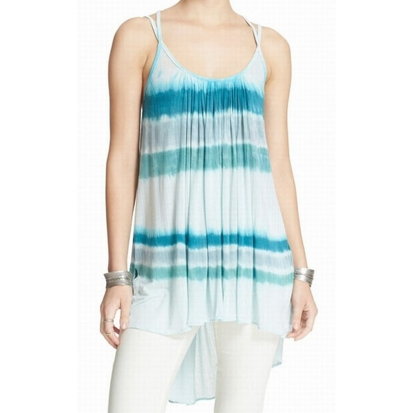 ce61433bc9 Shop Free People NEW Blue Women's Size XS Dip-Dye Fly By Striped Tank Top - Free  Shipping On Orders Over $45 - Overstock.com - 20466705