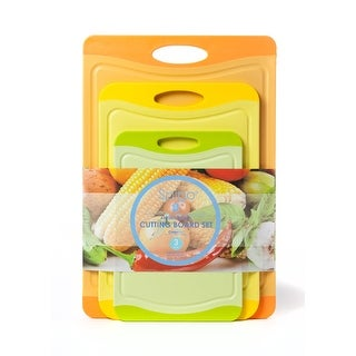 Spigo Antimicrobial Cutting Board Set with Cleantec Technology, 3-Pieces
