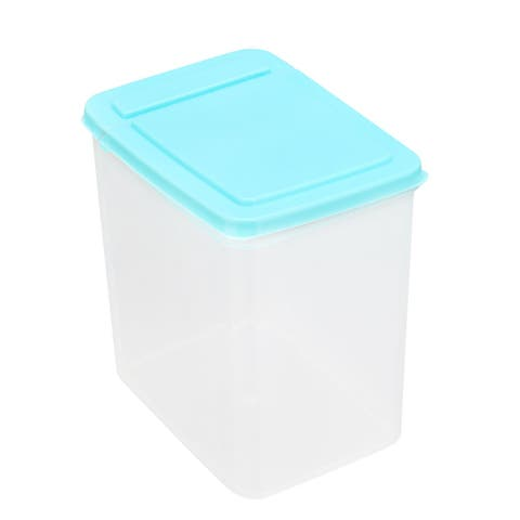 "Food Storage Container w Lid Kitchen Plastic Snack Food Fresh Storage Box Blue - 5.7"" x 4.1"" x 6.3"""